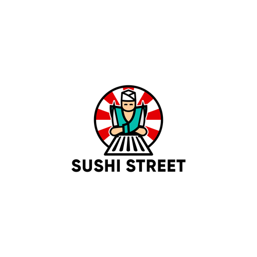 Sushi bar logo with the title 'Sushi Street logo'