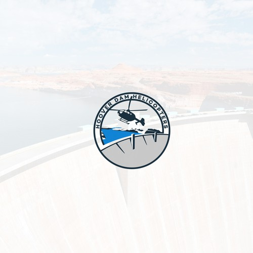 Helicopter design with the title 'Logo for Hoover Dam Helicopters Company'