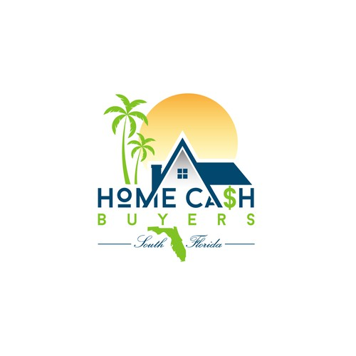 Florida logo with the title 'Playful Logo for Cash For Homes'