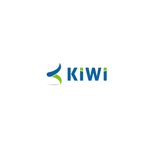 K logo with the title 'Logo contest for a seriously fun company: Kiwi'