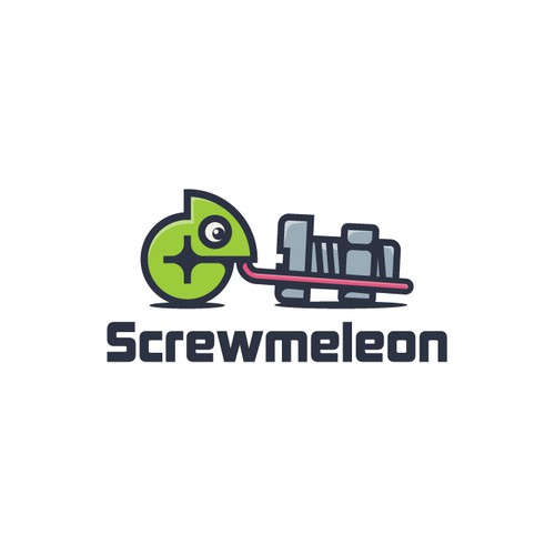 Mechanical design with the title 'Screwmeleon'