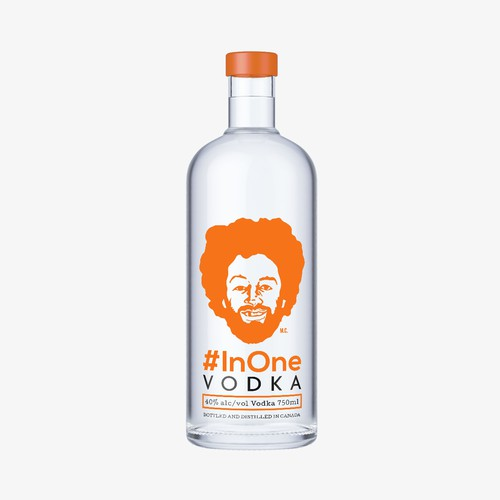 Vector label with the title 'Vodka Bottle Design'