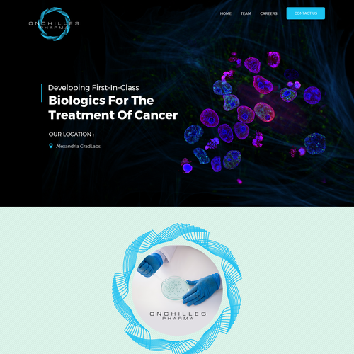 Responsive website with the title 'Cancer Research Facility'