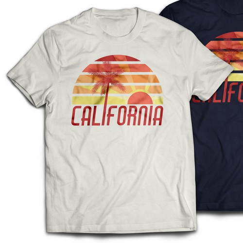 California t-shirt with the title 'California Tshirt Design'