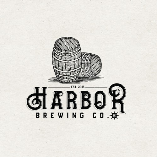 New York logo with the title 'Logo concept for Harbor Brewing Co.'