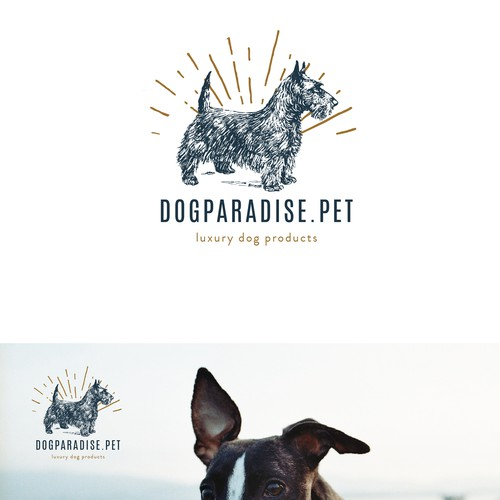 Paradise logo with the title 'DOGPARADIE.PET'