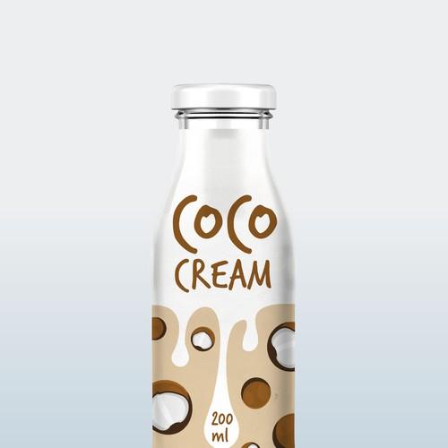 Cream design with the title 'Coco Cream Label'