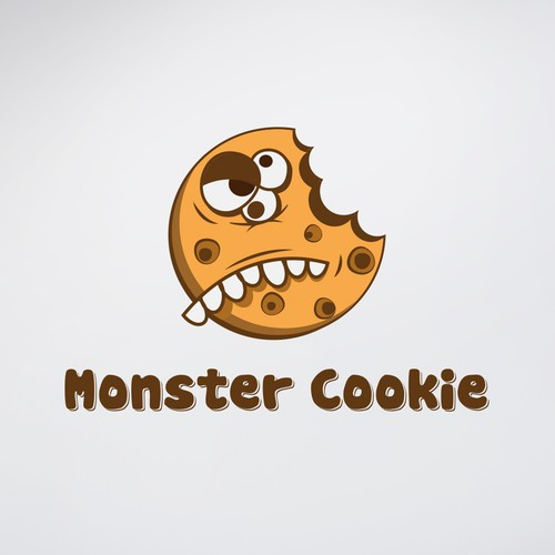 Chocolate logo with the title 'Monster cookies'
