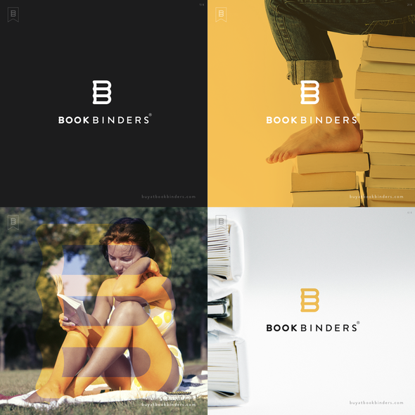 Book brand with the title 'New Bookstore Logo'