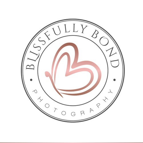 Blue and pink logo with the title 'Logo concept for photography business'