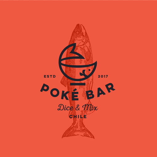Fast food design with the title 'Logo for Poke bar '