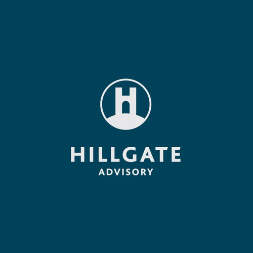 Gate design with the title 'Hillgate advisory logo'