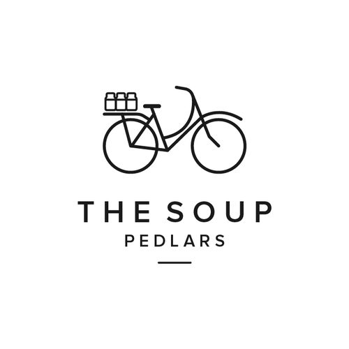 Delivery design with the title 'The Soup Pedlars'