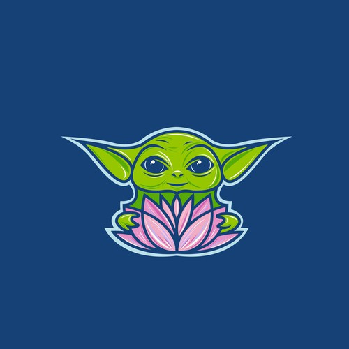 Star Wars design with the title 'Colorful 'Baby Yoda' logo for Remix Projject'