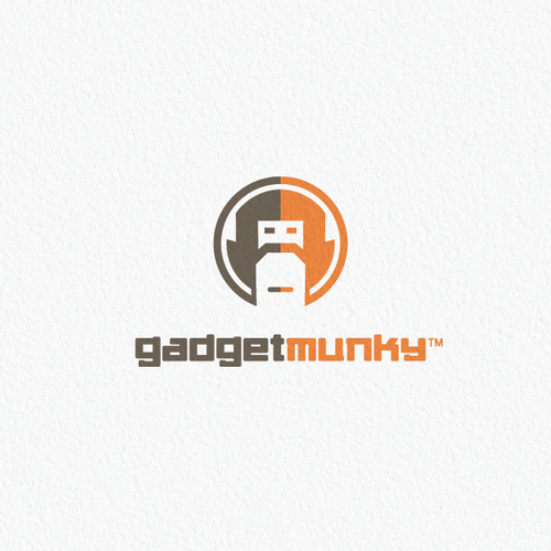 Monkey logo with the title 'Logo for Gadget Munky'
