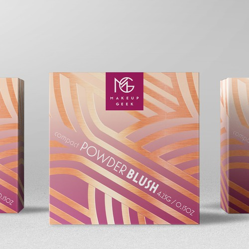 Art packaging with the title 'Powder Blush Packaging'
