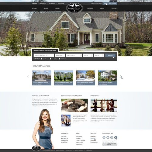 House website with the title 'Real Estate Agent Website Design'