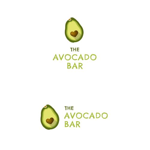 Avocado logo with the title 'Logo for The Avocado Bar'