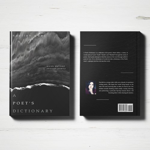 Black and white book cover with the title 'A Poet's Dictionary'