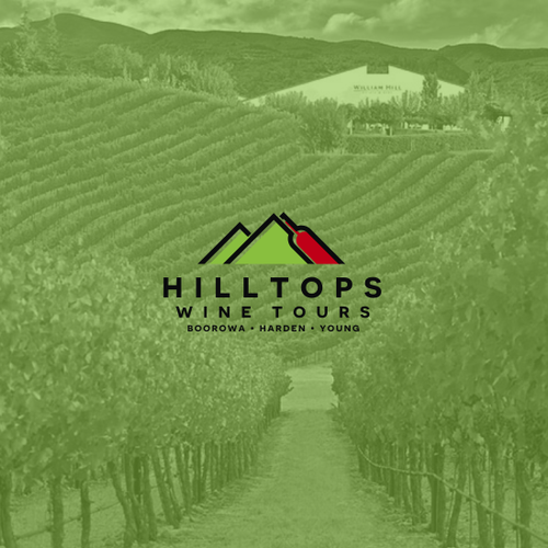 Hill design with the title 'Hilltops Wine Tours logo'