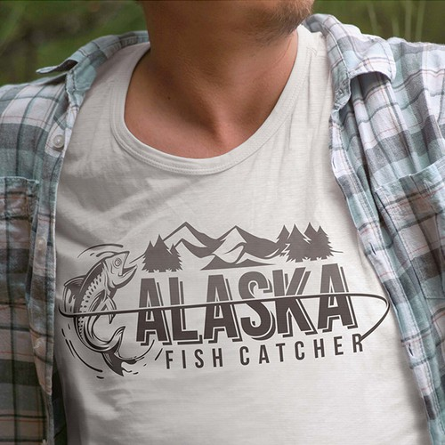 Salmon design with the title 'Alaska Fish Catcher'
