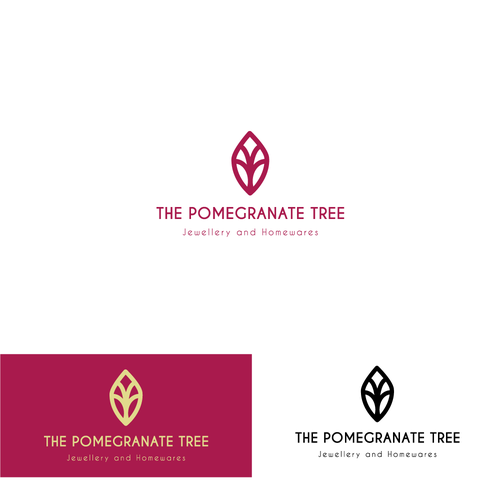 Pomegranate design with the title 'Pomegranate Tree'