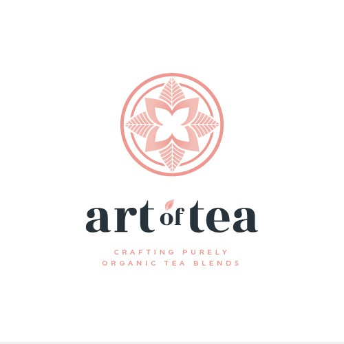Tea logo with the title 'Logo design for Art Of Tea'
