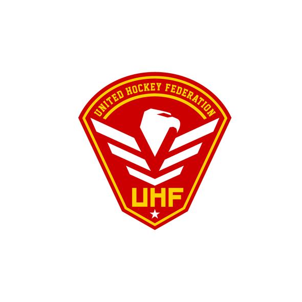Hockey design with the title 'United Hockey Federation logo'