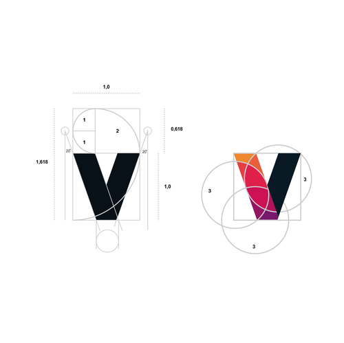 Fibonacci design with the title 'ENVERS'