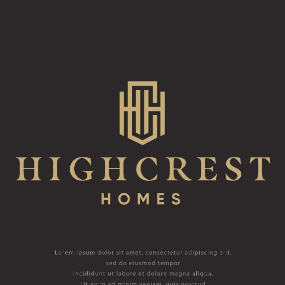 Construction brand with the title 'Logo for High Crest Homes'