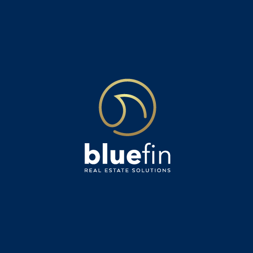 Fin design with the title 'Logo design for bluefin'
