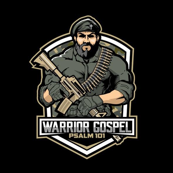 Commando logo with the title 'WARRIOR GOSPEL LOGO'