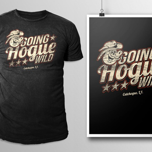 Vintage t-shirt with the title 'Going Hogue Wild'