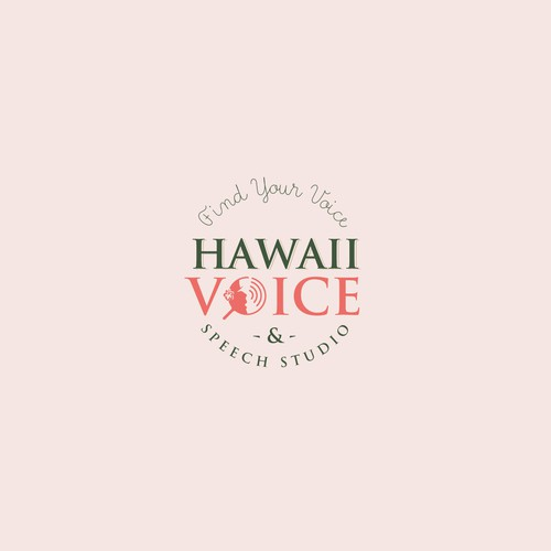 Hearing design with the title 'Hawaii Voice and Speech Studio'