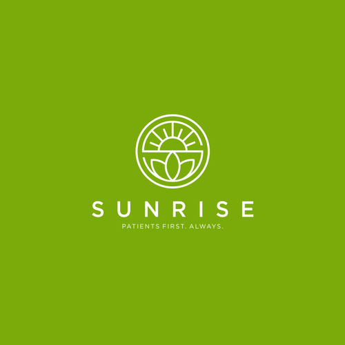 Sunrise logo with the title 'logo concept for business company'