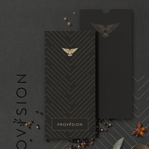 Dark brand with the title 'PROVISION - Logo Design & Brand Image'