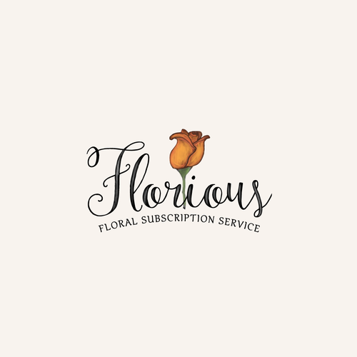 Floral brand with the title 'Florious FLORAL SUBSCRIPTION SERVICE'