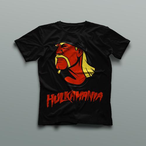 Art t-shirt with the title 'Hulkamania Shirt Design'