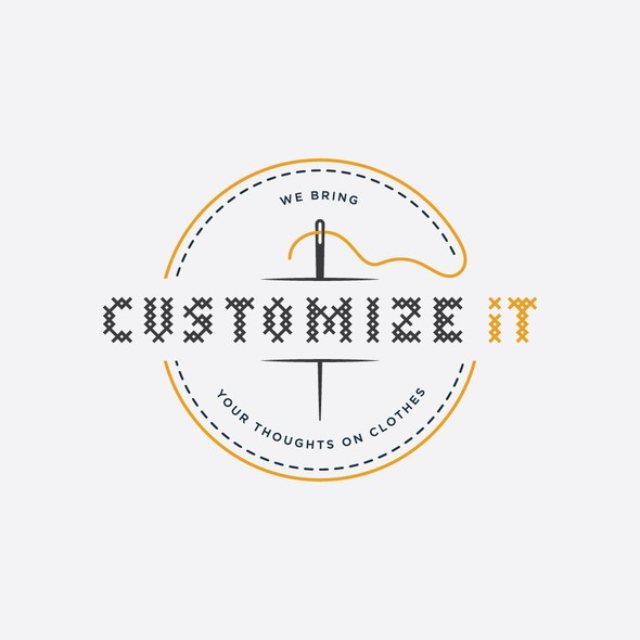 Yellow and gray design with the title 'Customize It'