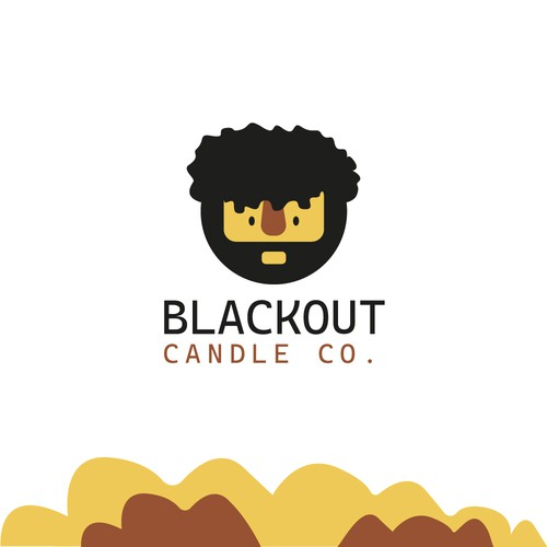 Caveman logo with the title 'Blackout Candle'