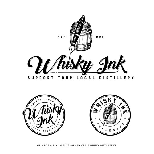 Local design with the title 'Whisky Ink'