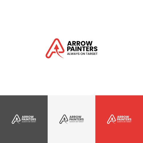 Painter logo with the title 'Logo Concept for Arrow Painters'