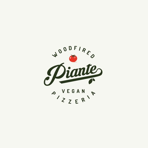 Ketchup logo with the title 'logo design for woodfired vegan pizzeria'