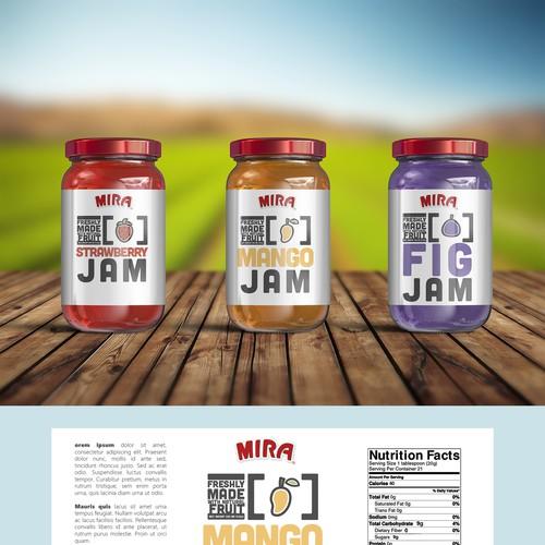 Jam design with the title 'Jam Label Design'