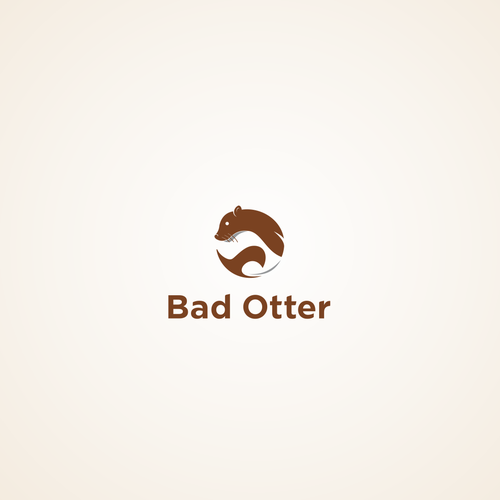 Otter logo with the title 'bad otter'