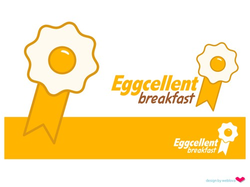 Breakfast logo with the title 'Eggcellent Breakfast logo design'