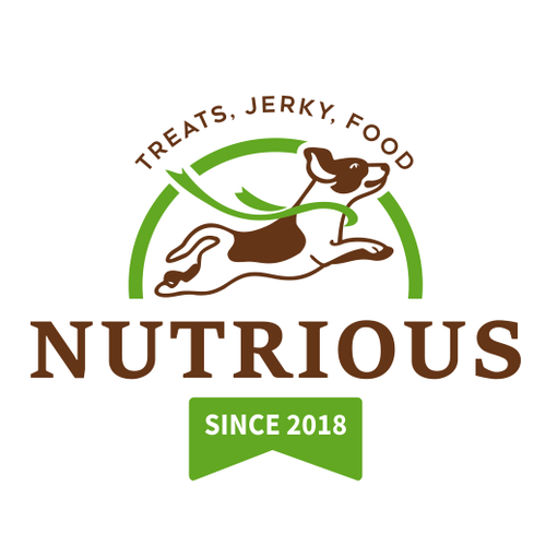 Jerky logo with the title 'Logo Designs For Dog Food Company'