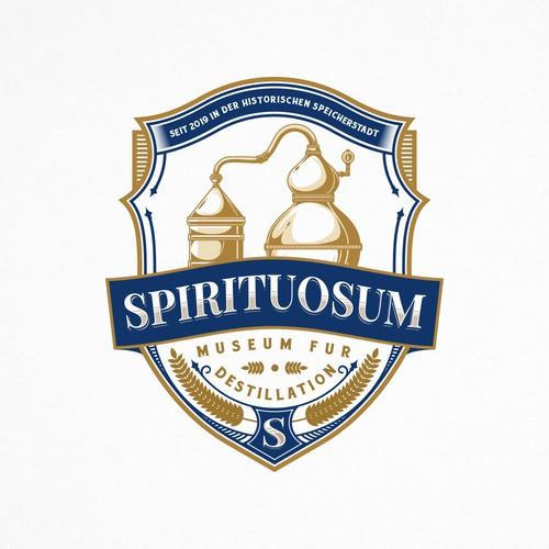 Museum logo with the title 'Distillation Logo for Spirituosum'