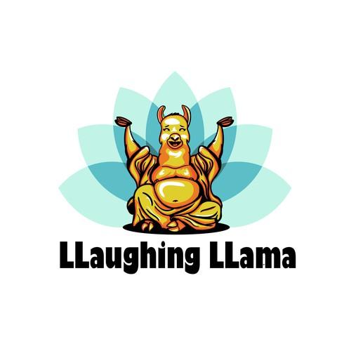 Llama logo with the title 'llama  buddha '
