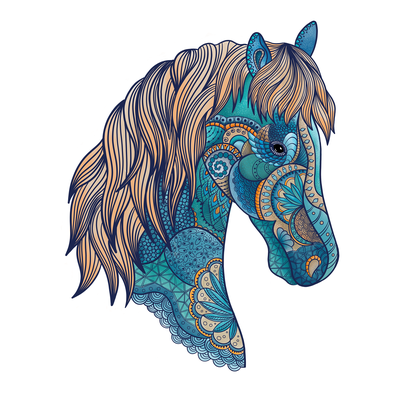 T-shirt design with a horse